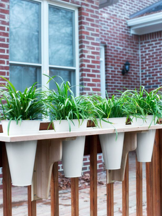 Make Your Own Rail Planter - love this! Almost like a window box. - 25+ Best Ideas About Deck Railing Planters On Pinterest Railing