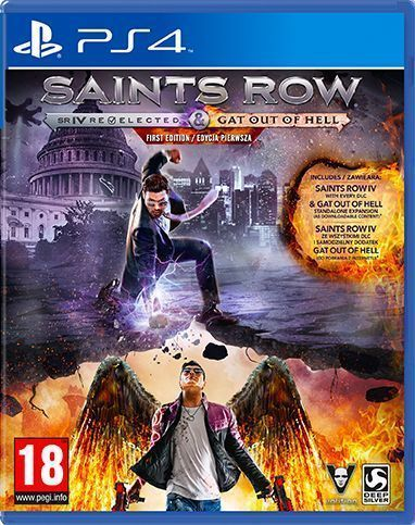 Saints Row 4: Re-Elected + Gat Out of Hell First Edition (PlayStation 4) - Koch