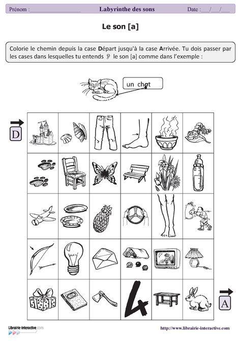 32 labyrinthes des sons auto-correctifs que vos élèves pourront faire en autonomie ou dans le cadre d'exercices de lecture. Chaque fiche correspond à un son et pourra être proposée à des élèves de GS, de CP ou de CE1.