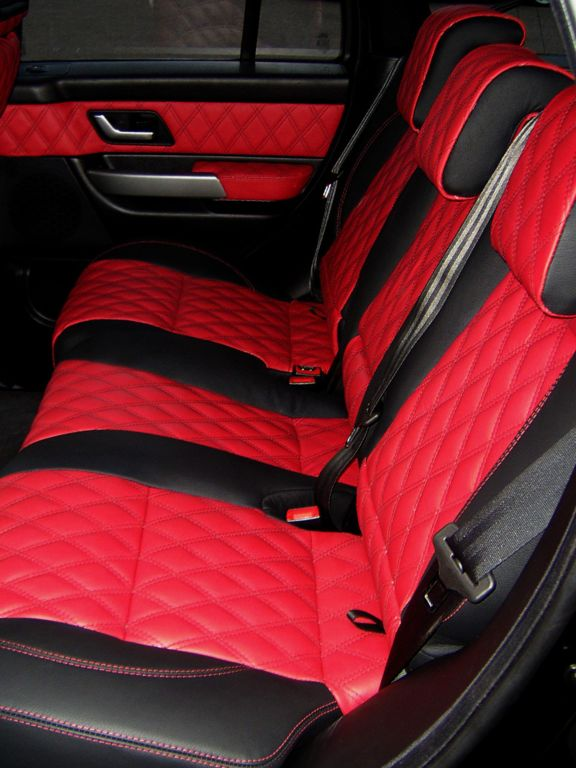 Range rover sport red/black quilted leather interior