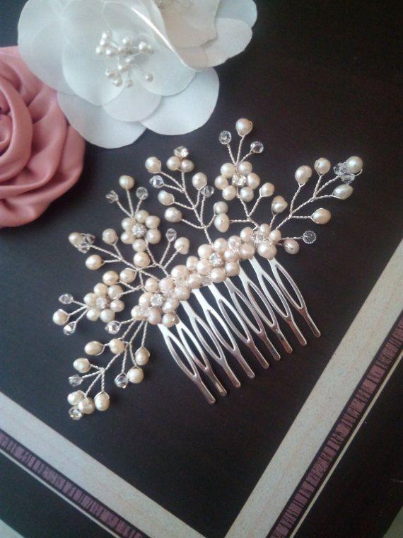 Freshwater Pearl Bridal Hair Comb Peal Hair Comb Pearl