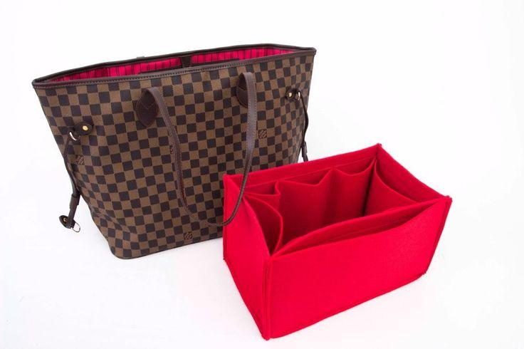 """Louis Vuitton Neverfull mm""  Red purse insert organizer red ,bag insert  #Senamon"
