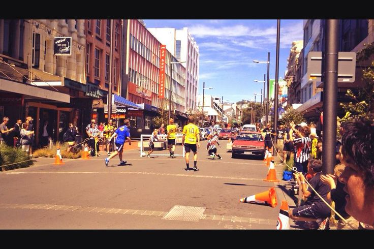 Wellington Phoenix with a street game of football to encourage new fans to get involved in supporting them in the A-League