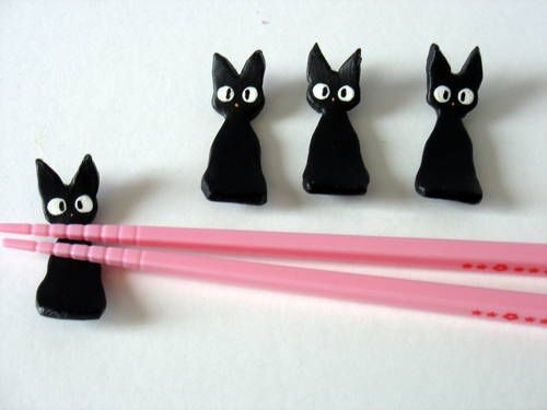 Awesome polymer clay chopstick rests!