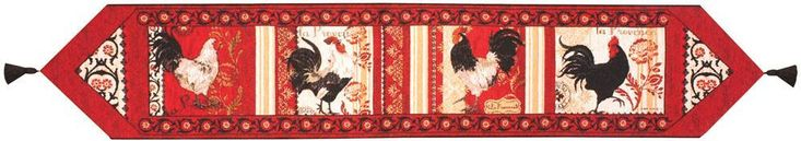 La Provence Roosters Table Runner Table Mat
