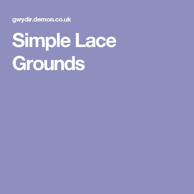 Simple Lace Grounds