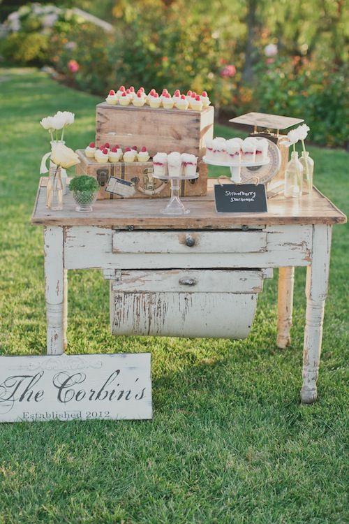 Best 25 rustic dessert tables ideas on pinterest for Decoracion bautizo en jardin