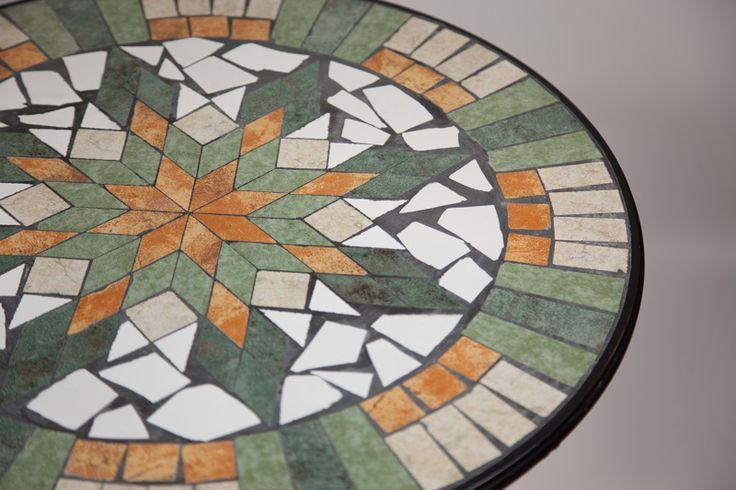 Mesa Mosaico Verde e Bege | A Loja do Gato Preto | #alojadogatopreto | #shoponline