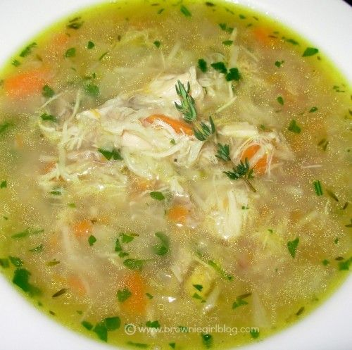 Browniegirl's Cold & Flu Busting Chicken Soup