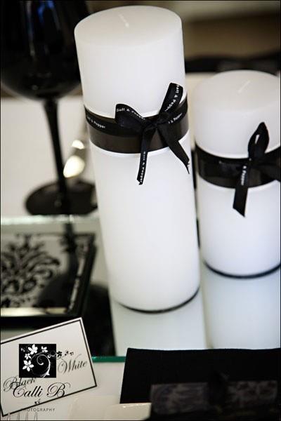 Decoración de Bodas en Blanco y Negro