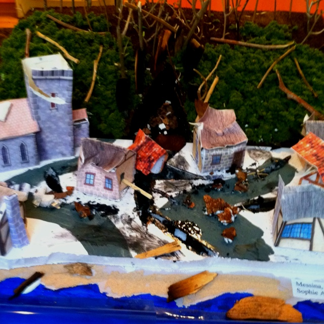 Sophie's earthquake diorama | projects | Pinterest | Dioramas