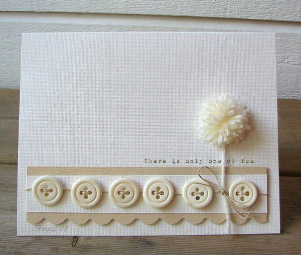 Scrapbooking cards - ideas for mother's day #scrapbooking #cards #pompom