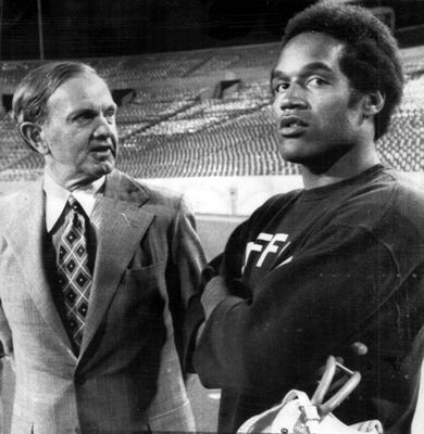 Ralph C. Wilson and OJ Simpson Buffalo, NY