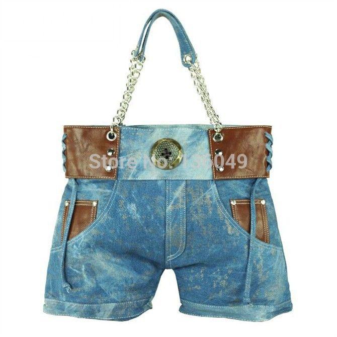 Hot 27 Denim Shorts Shoulder Bag