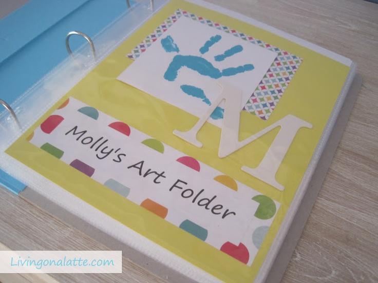 Living on a Latte: Storing kid's Artwork - Kid's Art Folders