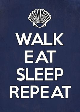 CAMINO DE SANTIAGO Walk eat, sleep and repeat.
