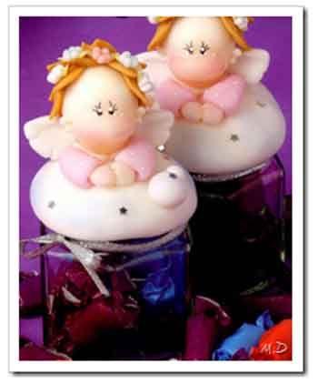 Frascos decorados con ngel de porcelana porcelana fr a - Frascos de vidrio decorados ...