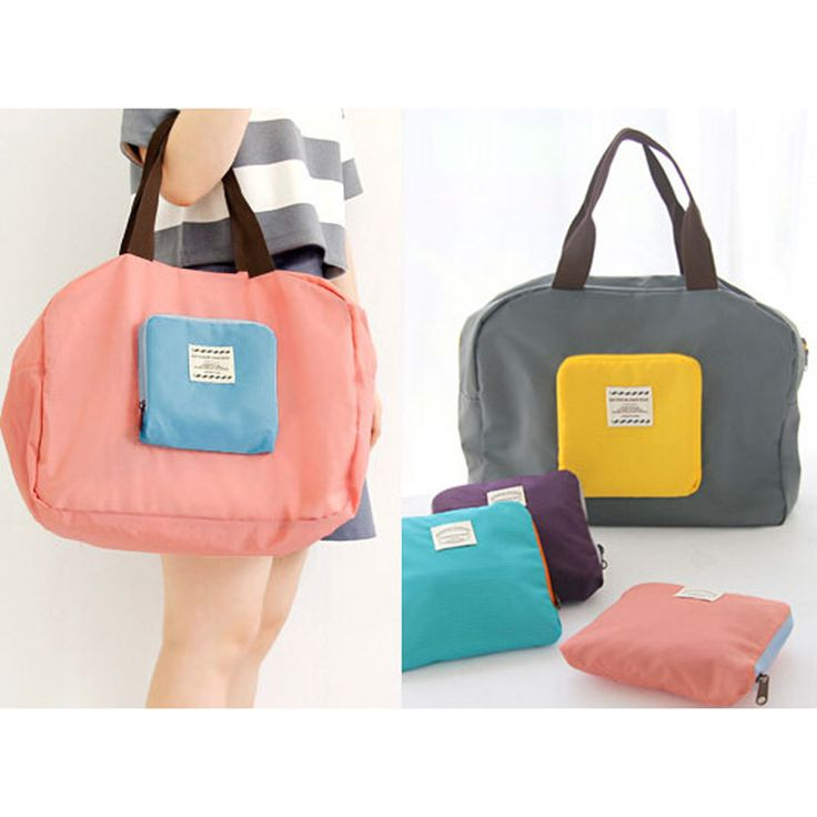 Fashion Women's Foldable Reusable Shopping Bag Waterproof Eco Shopping Travel Single Shoulder Bag Pouch Handbag just $9USD
