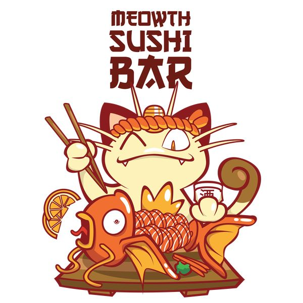 Meowth Sushi Bar - by KingsandQueens on Neatoshop