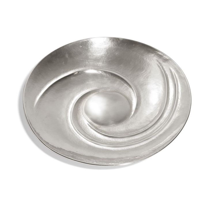 Tapio Wirkkala; Sterling Silver Spiral Dish for Kultakeskus Oy, 1963.