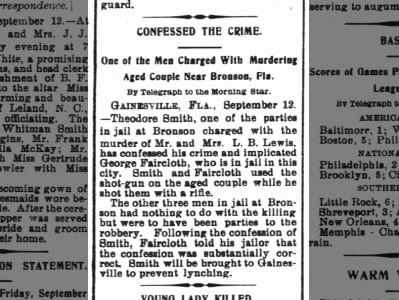 Confessed: Wilmington Morning Star, Wilmington NC 13Sept1902
