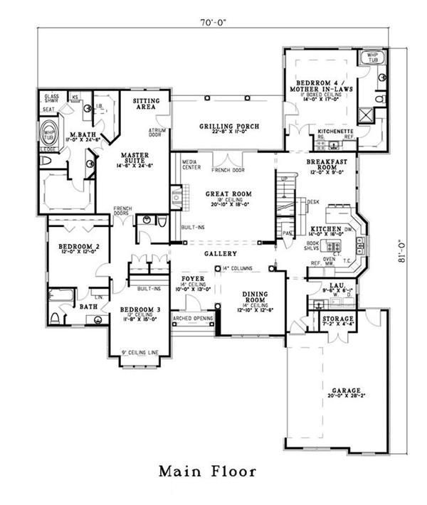 Home plans with separate guest house home photo style for House plans with separate guest house