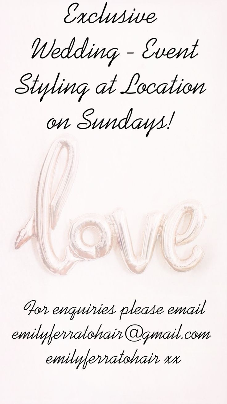 SUNDAY EVENT AND WEDDING STYLING!