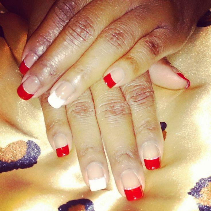 Shellac Tips with Glitter   Nails   Pinterest   Glitter ...