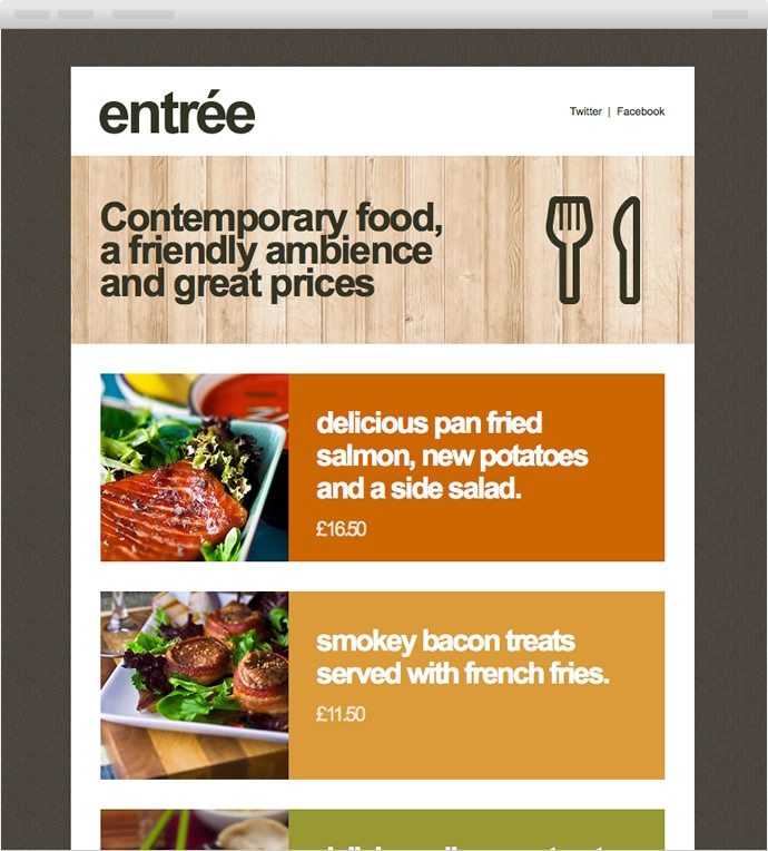 Beautiful Email Newsletters Food and drink Archives
