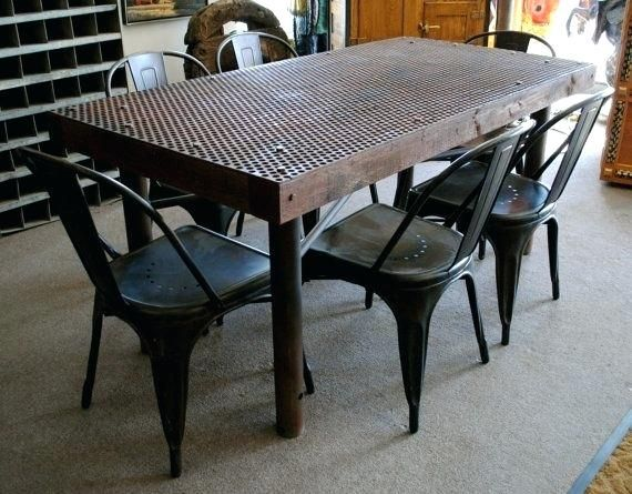 Rustic Industrial Dining Tables Vintage Industrial Metal And Wood