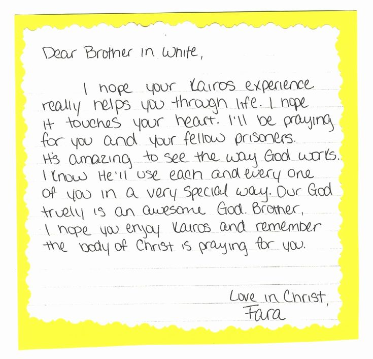 39++ Letter to inmate example ideas