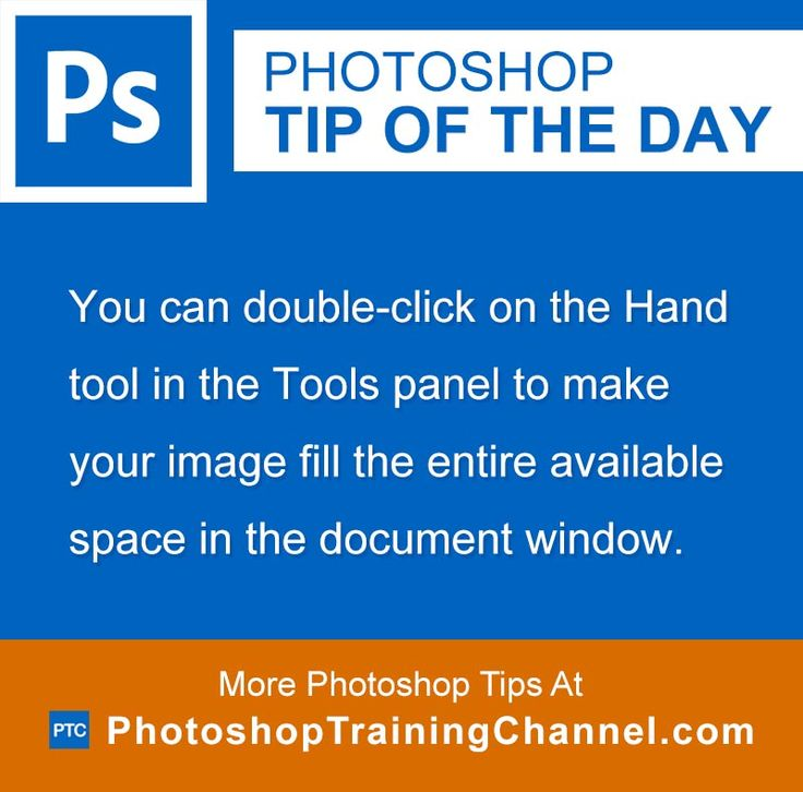 You can double-click on the Hand tool in the Tools panel to make your image fill the entire available space in the document window.