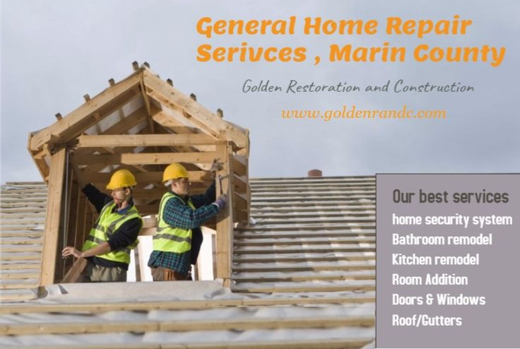 If you are looking for quality and stylish General Home Repair Services Marin County, Then consider Golden Restoration and construction. This is trusted and cost-effective home remodeling company in USA. They provide excellent general home repair services including home security system, Bathroom remodel, Kitchen remodel, Room Addition.