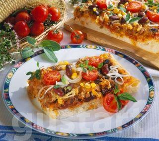 Receptek Lajos Mari konyhájából - Mexikói tepsis pizza