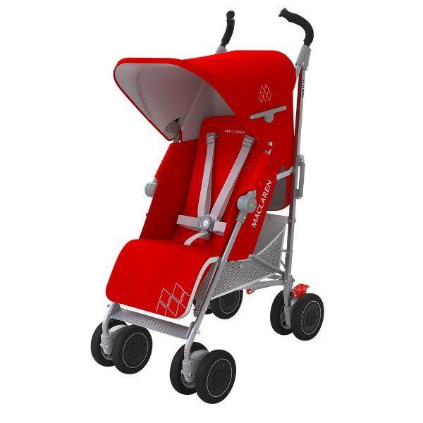 ¡Chollo! Silla de paseo Maclaren Techno XT en color rojo para recién nacidos por sólo 169 euros. 50% de descuento.