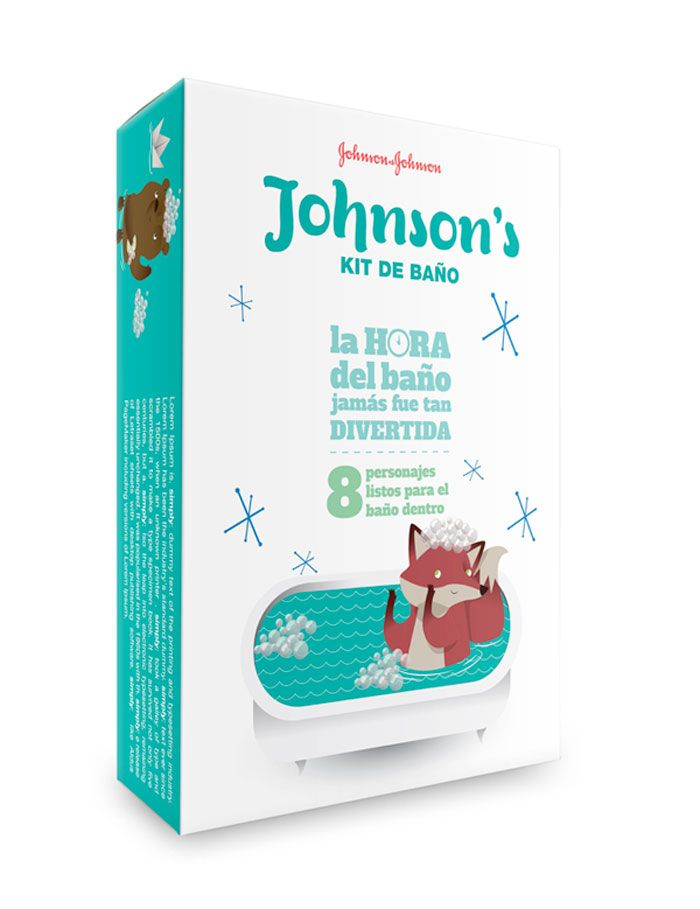 Cute design concept for Johnson & Johnson's baby products. Love the illustrations, very fitting for kid products.