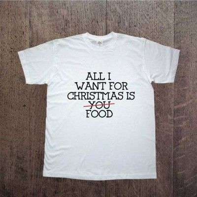Koszulka męska All i want for christmas is food Prezent pod choinke www.ddshirt.pl