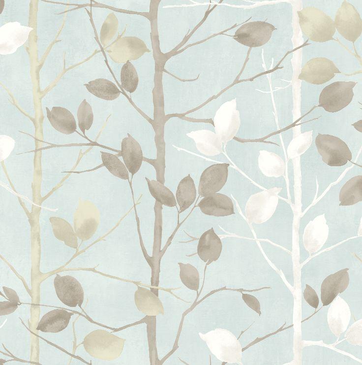Arthouse Vintage Woodland Duck Egg Wallpaper – 630700