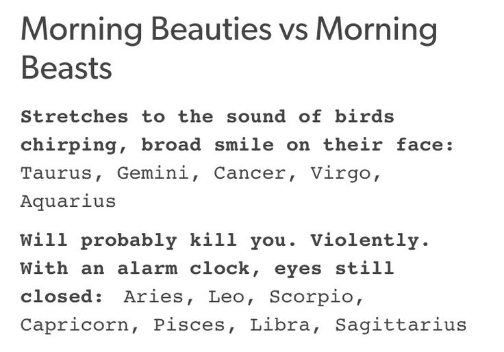 I'm actually a morning beast, don't fuck with me in the morning but anyways I'm an #sagittarius