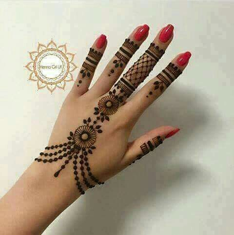 Haath phool mehndi design