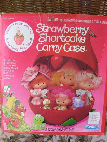 Strawberry Shortcake Carrying Case For Dolls Kenner 1980 Box