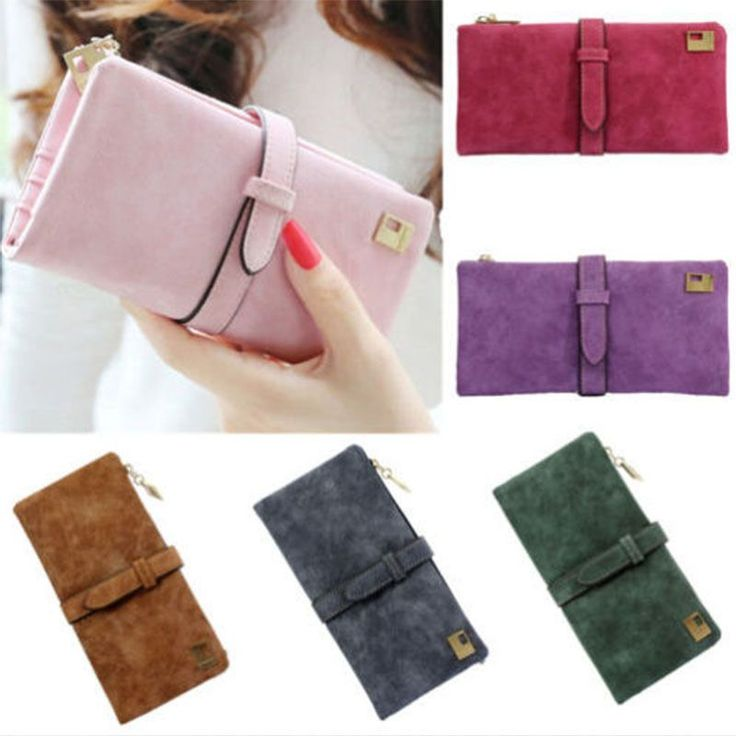 Women Leather Wallet Card Holder Case Clutch Long Purse Lady Handbag
