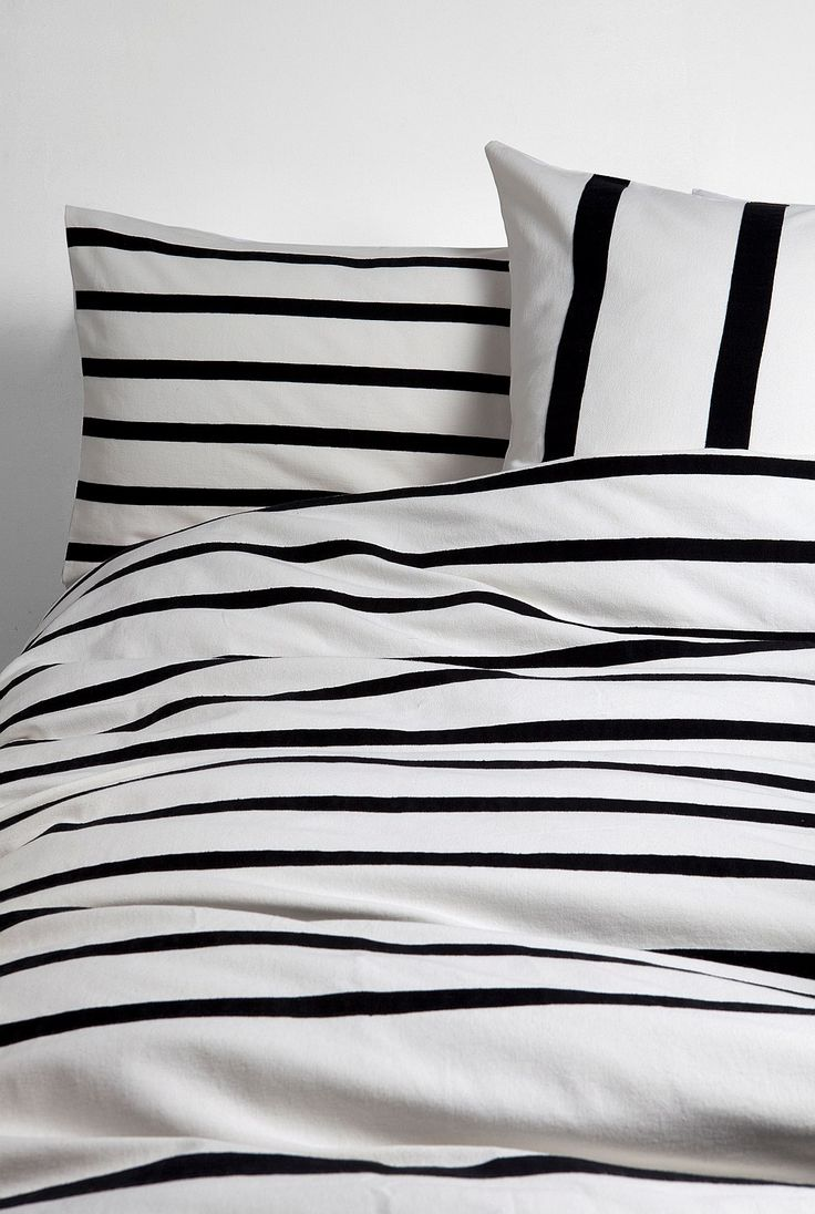 Black and white striped bed sheets - Marek King Quilt Cover Striped Beddingblack White