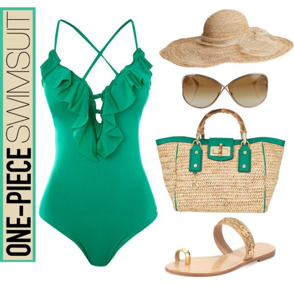 Emerald One-Piece, created by maggie478 on Polyvore