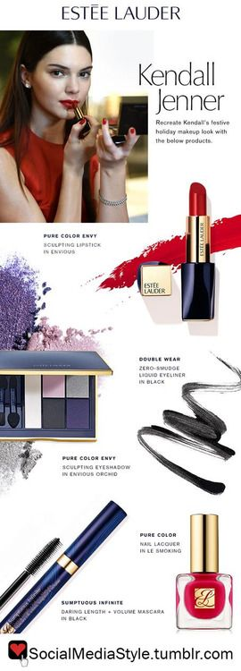 Buy Kendall Jenner's Estee Lauder Holiday Makeup Look, here!