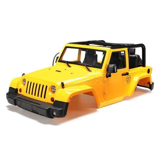 1/10 RC Truck Hard Body Shell Canopy Rubicon Topless For SCX10/D90  | eBay