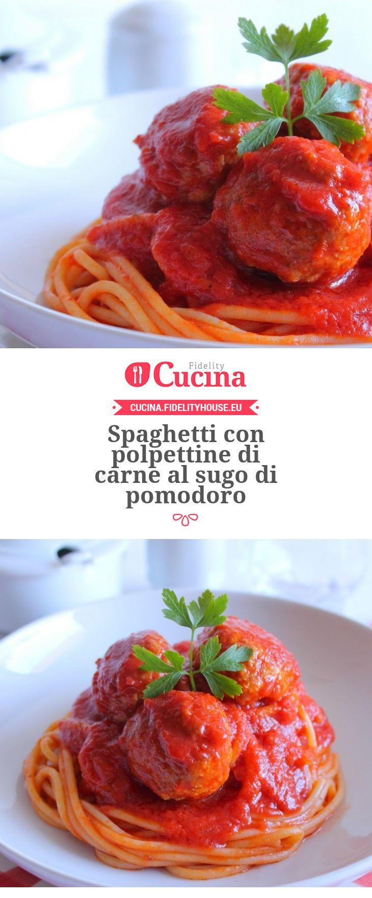 Spaghetti con polpettine di carne al sugo di pomodoro della nostra utente Giovanna. Unisciti alla nostra Community ed invia le tue ricette!