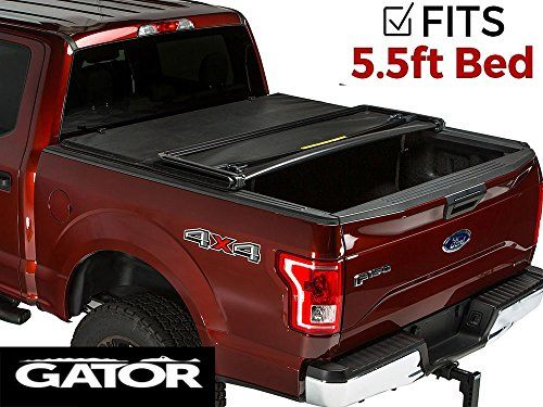 Gator Tri-Fold Tonneau Truck Bed Cover  Ford F-150 2015-2017 5.5 ft Bed 59312  5.5 ft. bed 2015-2017 f150  Gator tri-fold tonneau cover is a simple to use, affordable, and durable soft folding tonneau cover  Cover unlocks from underneath, a tailgate lock with keep your things secure and out of reach  Limited lifetime warranty  The tarp is made out of heavy duty, tear resistant vinyl attached to an anodized aluminum bows and f