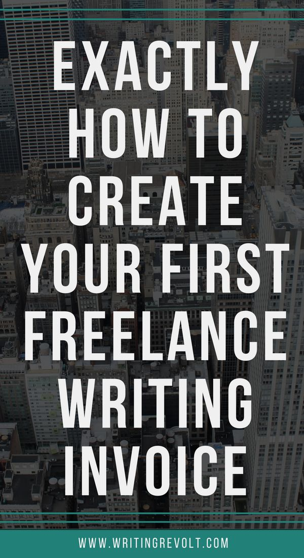 Best Freelance Writing Images On Pinterest Creative Writing - How to write up an invoice for freelance work