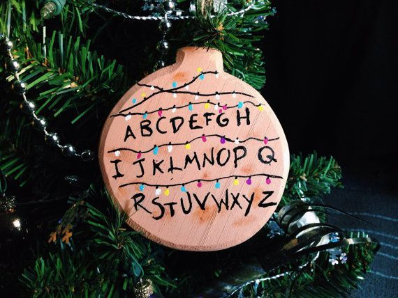 stranger things christmas ornament alphabet lights christmas gift current obsession stranger things pinterest stranger things christmas and